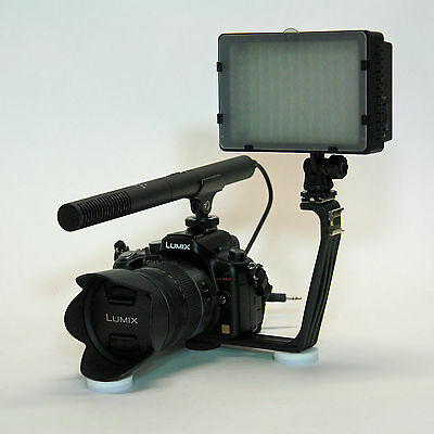 Pro Vm Sc-2l Camcorder Video Mic Light For Canon Vixia Fu...