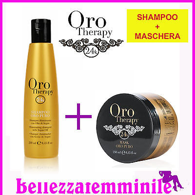 Kit Illuminante - Shampoo 300ml + Maschera 300ml Oro Therapy