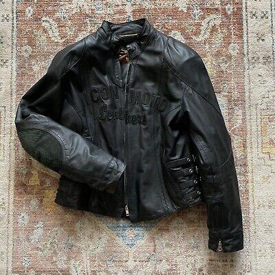 Icon Bombshell Jacket Coat - Motorcycle Womens Black Leather L ()