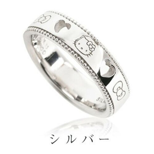 Hello Kitty Open Heart Lace Ring Silver 925 Various Size Accessory Sanrio Japan