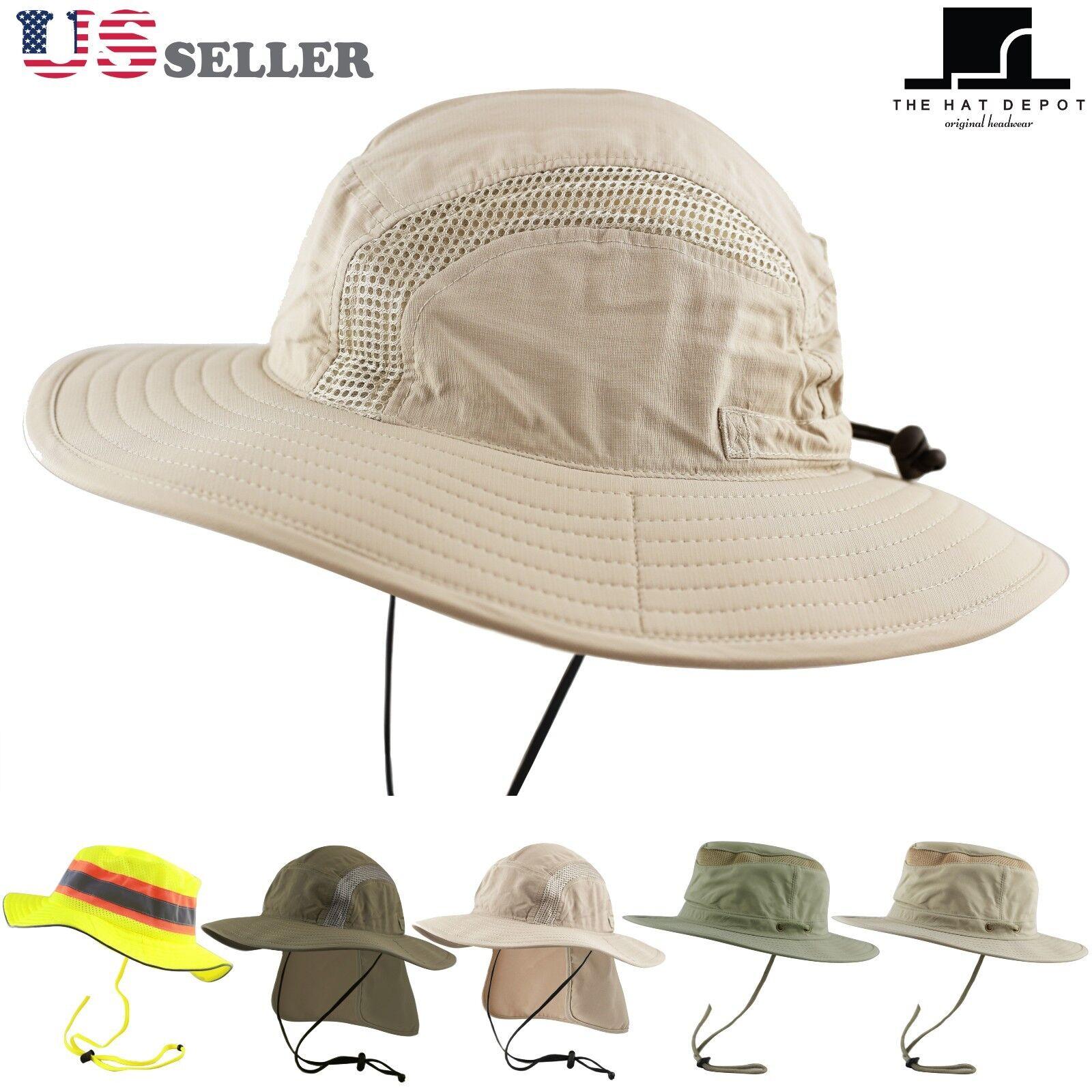 Bucket Hat - 50 UPF Sun Protection Outdoor Safari Sun Mesh B