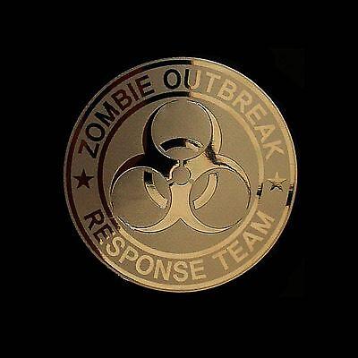 Zombie Outbreak Response Team Metal Decal Sticker Case Computer PC Laptop (G)