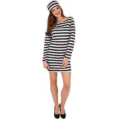 Frauenkostüm Knastbraut Sexy Insassin Gefangene Häftling Sträfling Fasching - Sexy Kostüm Frauen
