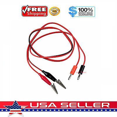 New 3ft Alligator Probe Test Lead Clip To Banana Plug Probe Cable For Multimeter