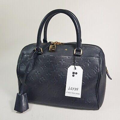 Auth Louis Vuitton Speedy Bandouliere 25 NM Monogram Empreinte Noir M42401 LC935