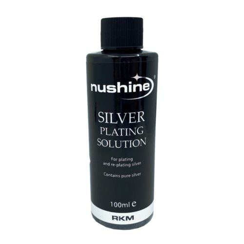 NUSHINE SILVER PLATING SOLUTION 100ml - PLATE METALS WITH REAL SILVER - USA SHIP