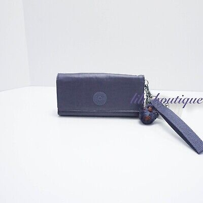 NWT Kipling AC8151 RUBI Snap Long Wallet Wristlet Enchanted Purple Metallic $47