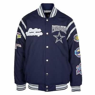 Dallas Cowboys 5 Time Super Bowl Champions All Time Varsity Commemorative Jacket