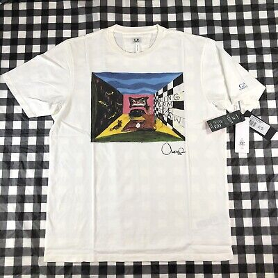 CP Company X Rejjie Snow Running From The Law 2XL Art T Shirt Made In Italy Tee