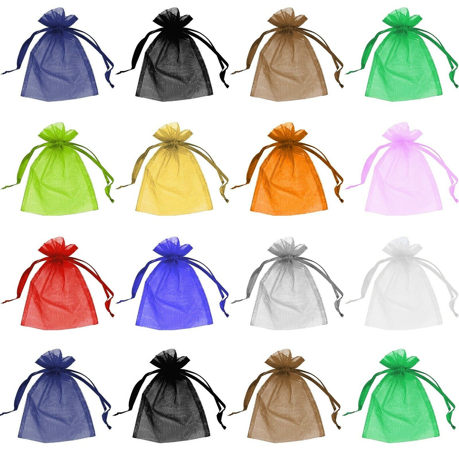 Jewellery - 50 Organza Bags Jewellery Pouches Wedding Favour Party Mesh Drawstring Gift Cake
