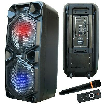 EMB 2000 Watts Bluetooth Rechargeable PA Speaker w/ Light, Echo + Remote Control
