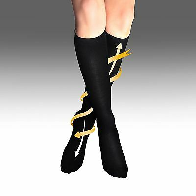 Mens Womens Flight Travel Socks Unisex Anti Swelling Compression DVT Support