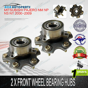 Pair Front Wheel Bearing Hubs Pajero NM NP NS NT 00-09 Left/Right 12mm AU Stock