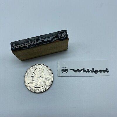 Vintage Rca Whirlpool Logo Advertising Letterpress Block Print Stamp 1 58x14