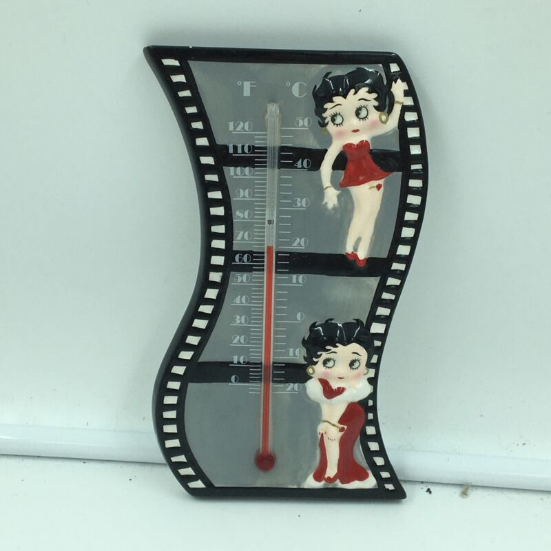 """Betty Boop Ceramic Wall Hanging Thermometer 7"""" x 3.25"""" Westland Giftware #20015"""