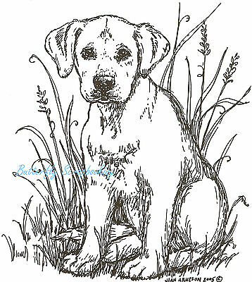 Dog Labrador Puppy Jade Wood Mounted Rubber Stamp Northwoods New P1742 for sale  Shipping to India