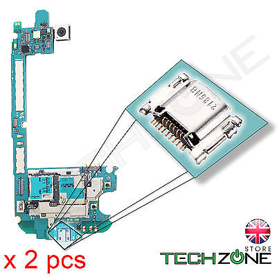 2 x Samsung Galaxy S3 GT-I9300 USB Charging Port Charger Socket Connector Dock, usado segunda mano  Embacar hacia Argentina