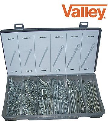 555pc Cotter Pin Assortment Kit with Fastener Clip Key
