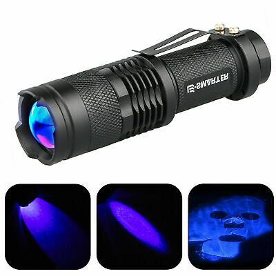 365nm LED High Powered UV Lamp Black Light Ultra Violet Flashlight Super Bright - Light Flashlight