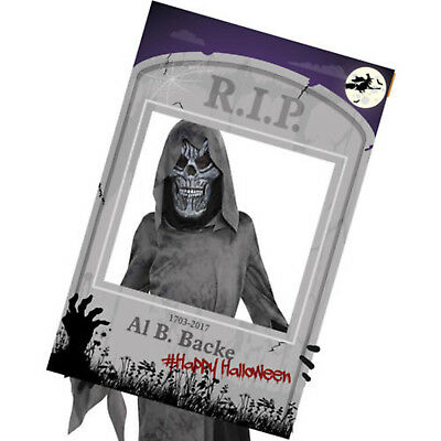 Halloween Haunted RIP Grave Tombstone Personalised Party Photo Selfie Frame Prop (Personalized Halloween Frames)