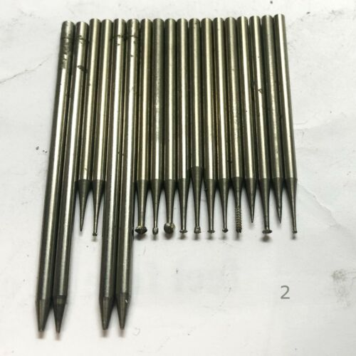 USED BURS LOT Steel Jewelry Tool. THEY MAY REUSE OR SHARPEN