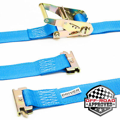 """2 Pack 2"""" x 16' E-Track Ratchet Tie Down Straps ETrack Truck Trailer Cargo Load, used for sale  USA"""