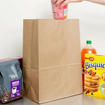 Brown Paper Barrel Sack Grocery Bag 50/Bundle 12