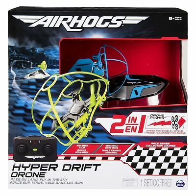 Air Hogs Hyper Drift Drone Racer - Race On Land Fly in The Sky ! - SPIN MASTER