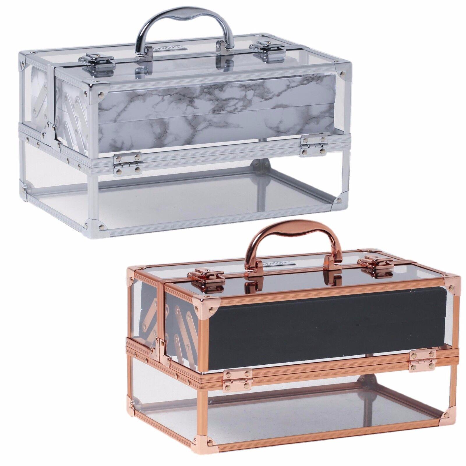 Beautify Large Acrylic Vanity Make Up Beauty Box Cosmetics Storage Lockable Case