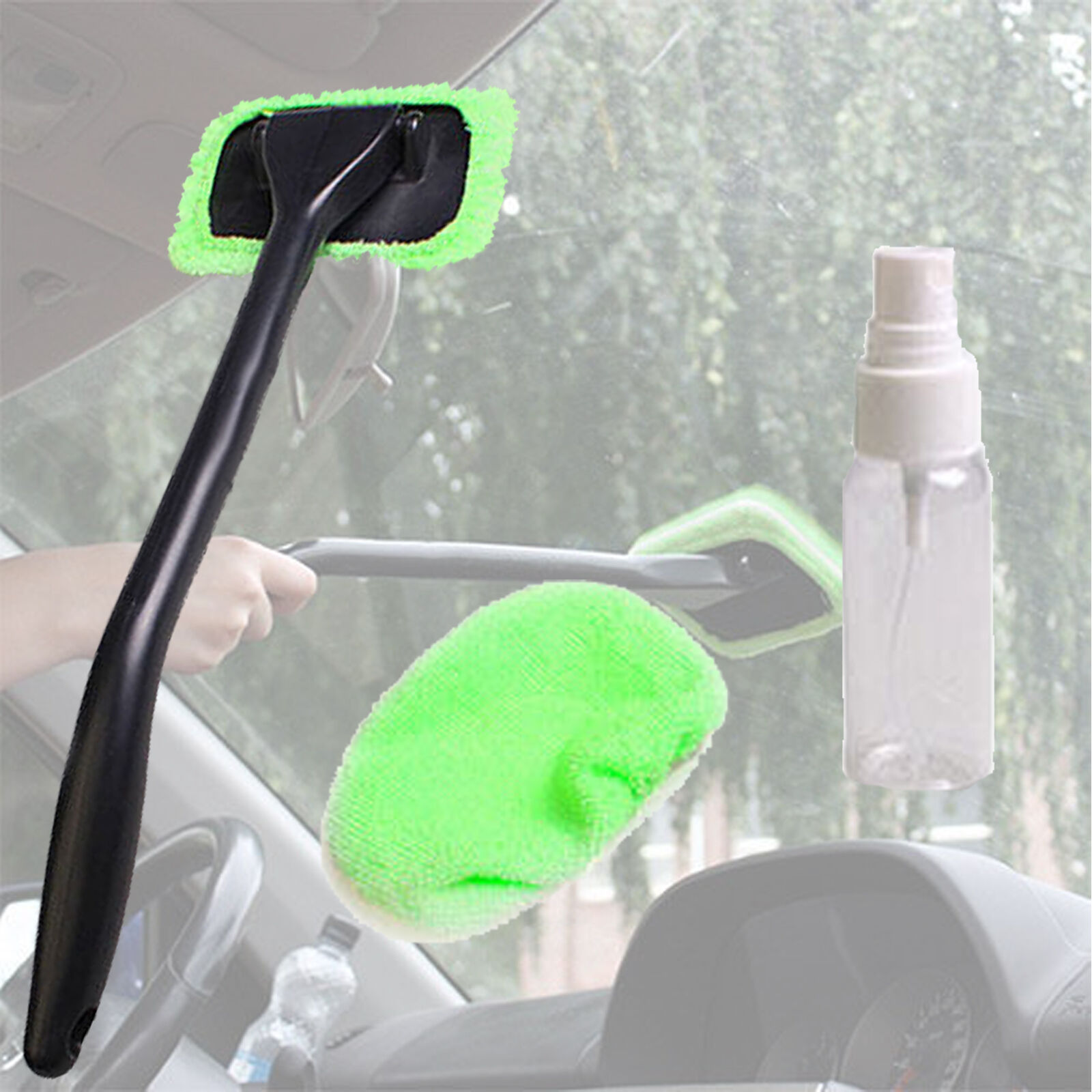 Microfiber Windshield Clean Car Auto Wiper Cleaner Glass Window Tool Brush Kit Cleaning Products
