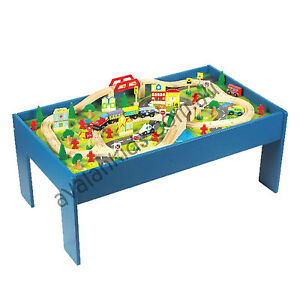 90 Piece Wooden Train Table Set Toy Thomas The Tank Avalan Kids Activity