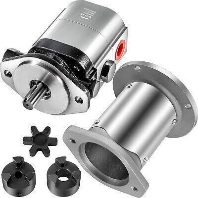 Vevor 22gpmlog Splitter Pump Kit 2-stage Hydraulic Gear Pump 2hole 1crankshaft