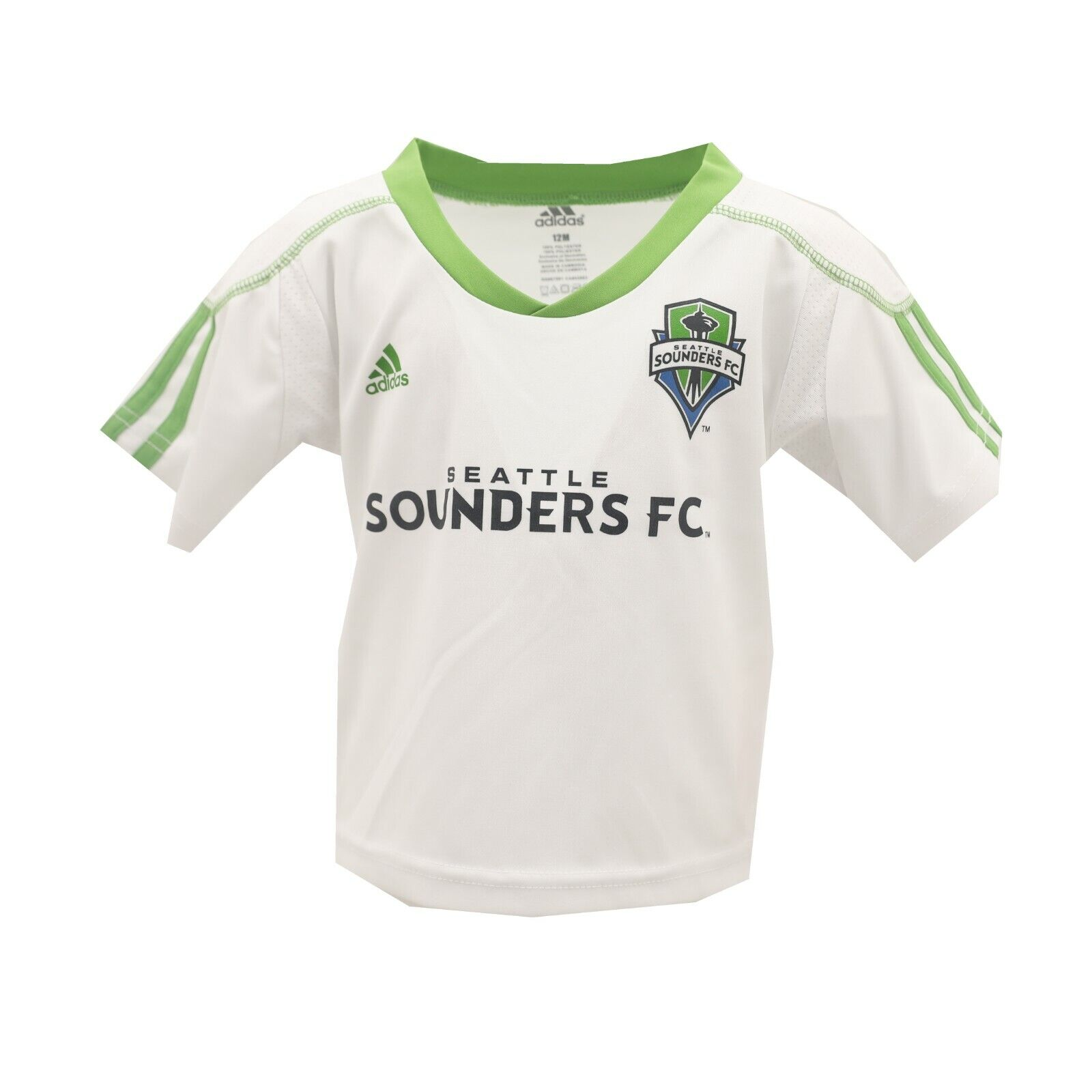brand new 286cf 39131 Seattle Sounders FC MLS Adidas Baby Infant Size Jersey-Style Athletic T- Shirt