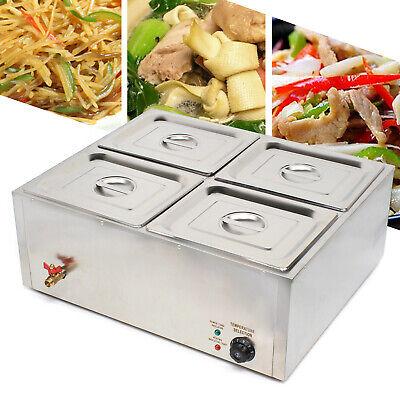 110v Bain Marie Countertop Food Warmer Steam Table Restaurant Equipment 4pans Us