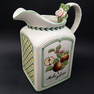 Villeroy & Boch French Garden Charm Pitcher Country Collection Malus Sylvestris