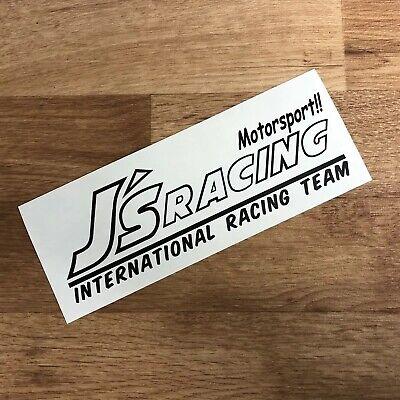 J's Racing Sticker Decal Vinyl Black JDM Drift Honda Kanjo Turbo Civic EG EF EK for sale  Shipping to Ireland