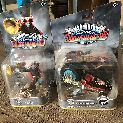 Skylanders SuperChargers LOT 2 FIGURES SEA FIesta Crypt Crusher Undead Set New](Skylander Crusher)