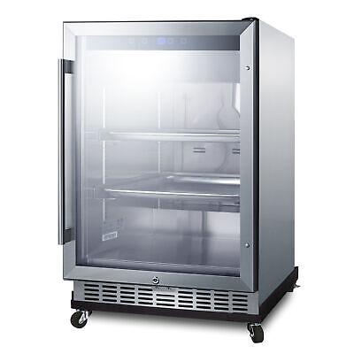 Summit Scr611glosri Glass Door Undercounter Outdoor Refrigerator