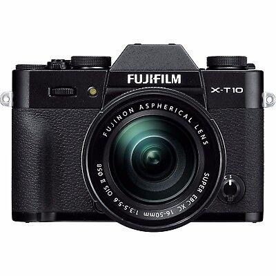 Fujifilm X-T10 Mirrorless 16.3MP Digital Camera + 16-50mm Lens II (Black)