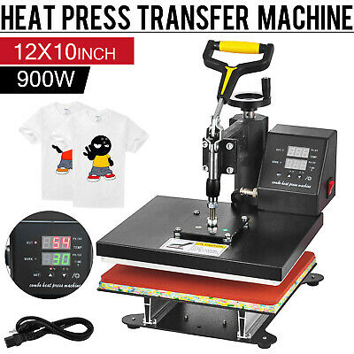 Digital T-shirt Heat Press Sublimation Transfer Machine 12 X 10 Swing Away