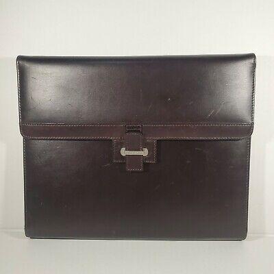 Original Cutter Buck Vintage American Classic Leather Tri-fold Portfolio Brown