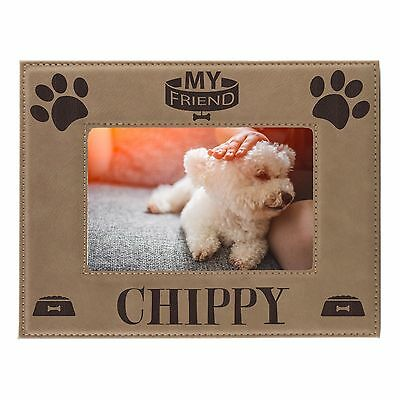 Personalized Pet Dog Picture Frame 8x10 - Custom Engraved Animal Photo Gift  ()