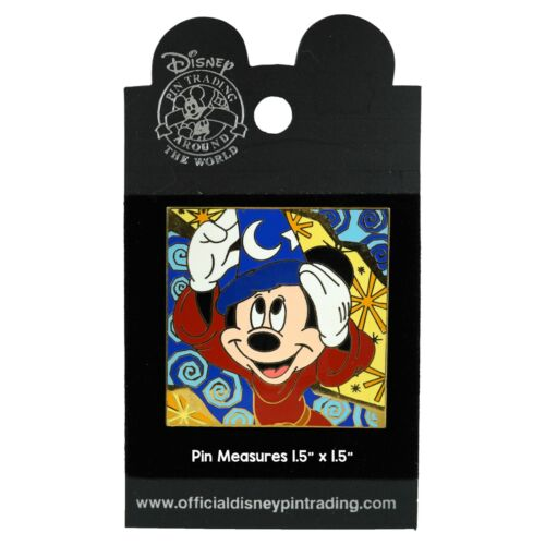 Sorcerer Mickey Psychedelic Square Series • Aug 2002 •  #14378 New on Card
