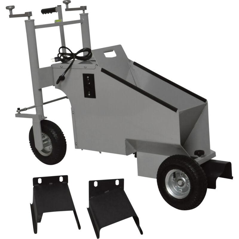 Klutch Electric Walk-Behind Concrete Curb Machine -5.8in. Working Width, 3/4 HP