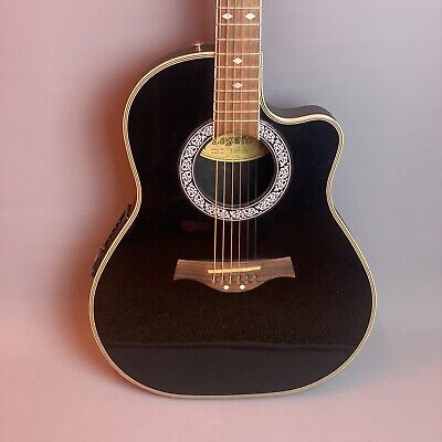 Legato Round-Back Electro Acoustic Guitar in Black 🎸                *Pre-owned*