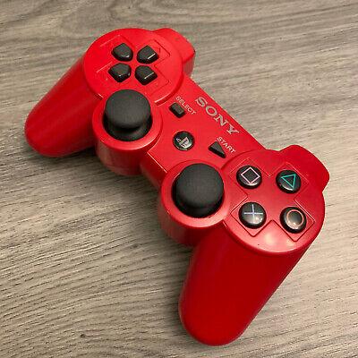 Sony PS3 DualShock 3 Sixaxis Controller - OEM Original - Red - Refurbished