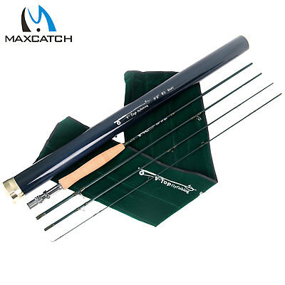 Maxcatch Top Fly Rod 5/6/8WT 9FT Best Graphite IM12 Fast Action Fishing