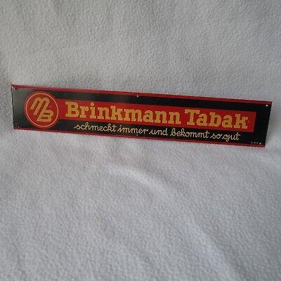 altes Blechschild Brinkmann Tabak schmeckt immer und.. Thekenstreifen Türschild