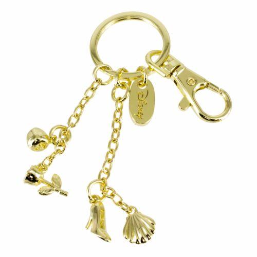 Disney Princess Keyring Keychain Charms Rose Gold Ariel, Belle, Jasmine Sticker