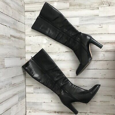 J Crew Leather Heeled Boots Size 8